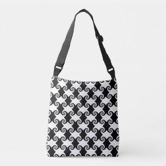 swirled crossbody bag