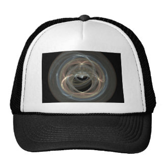 Swirled Fractal Art Heart Hats