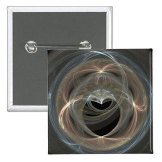 Swirled Fractal Art Heart Pin