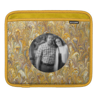 Swirled Gold Chic Abstract Paisley Shiny Effect Sleeve For iPads