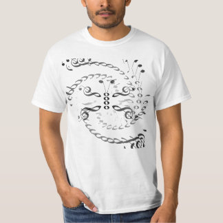 Swirled Music Butterfly T-shirts