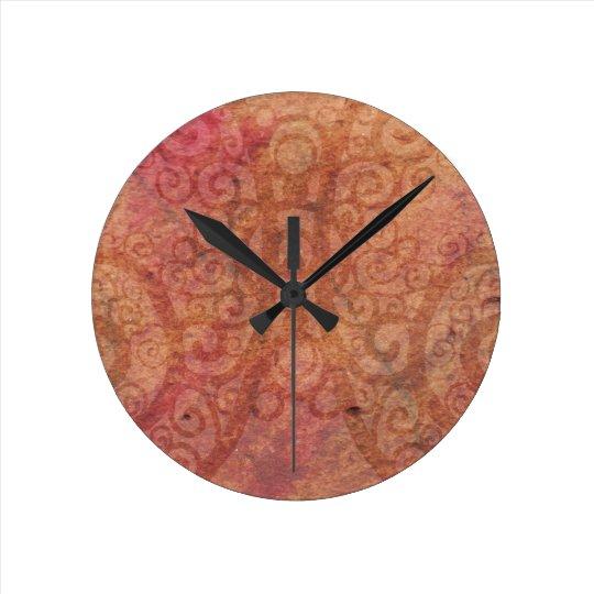 Swirled Parchment Round Clock
