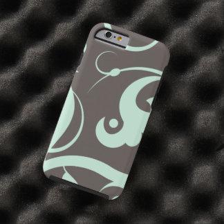 Swirled Pattern, Swirly Style - Blue Gray Tough iPhone 6 Case
