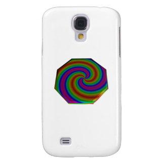 Swirled Rainbow Octagon Samsung Galaxy S4 Case