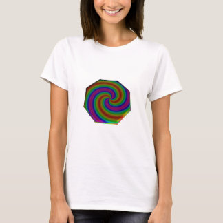 Swirled Rainbow Octagon T-Shirt