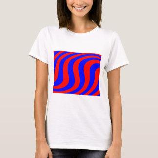 Swirled Red & Blue Stripes T-Shirt