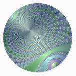 Swirler - Fractal Classic Round Sticker
