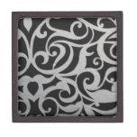Swirley negro y blanco caja de regalo de calidad