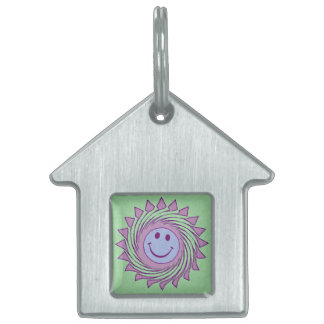 SWIRLEY SMILEY PET ID TAG