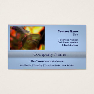 Swirling Abstract of Colors Business Card