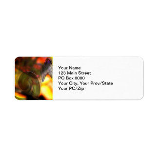 Swirling Abstract of Colors Label