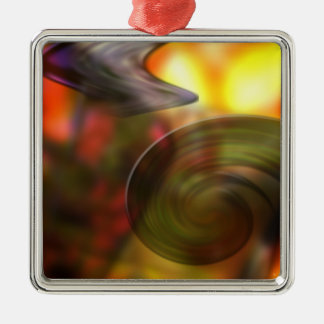 Swirling Abstract of Colors Metal Ornament