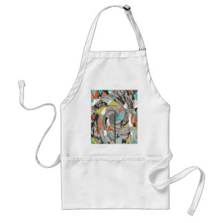 Swirling Abstract Tree Adult Apron