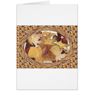 Swirling Autumn Leaves Greeting Cards