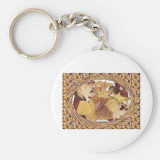 Swirling Autumn Leaves Key Chains