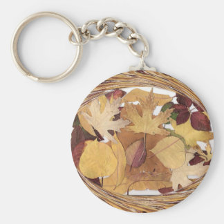Swirling Autumn Leaves Keychain