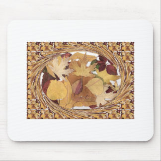 Swirling Autumn Leaves Mouse Pad