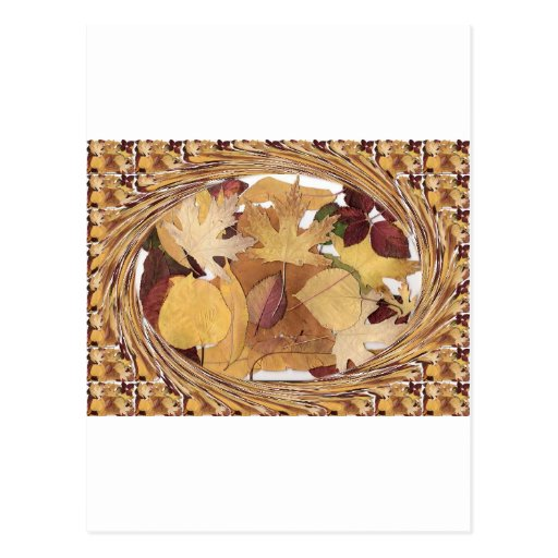 Swirling Autumn Leaves Postcards