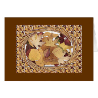 Swirling Autumn Leaves Stationery Note Card