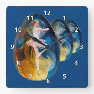 Swirling  Ballerina Clock