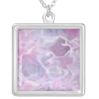 Swirling Batik Silver Plated Necklace