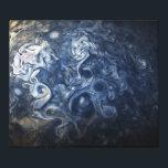 "Swirling Blue Clouds of Planet Jupiter Juno Cam Canvas Print<br><div class=""desc"">Swirling Blue Clouds of Planet Jupiter from Juno Satellite flyby in 2017</div>"