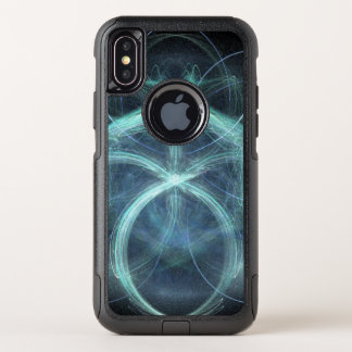 Swirling Blue Electrical Charge OtterBox Commuter iPhone X Case
