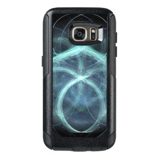 Swirling Blue Electrical Charge OtterBox Samsung Galaxy S7 Case