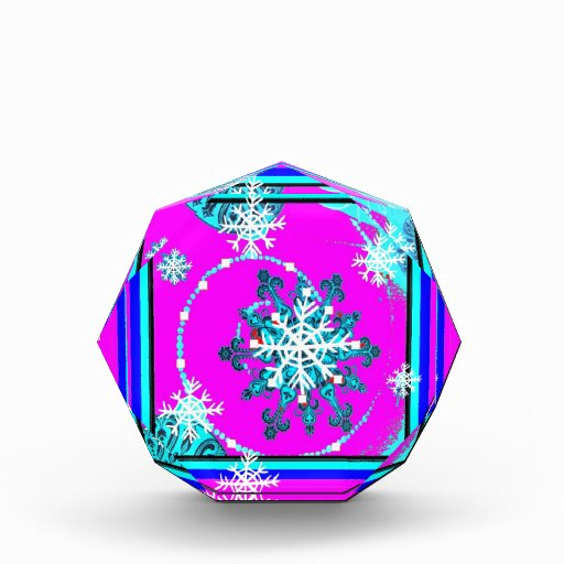 Swirling Blue Snow Flakes by Sharles Awards