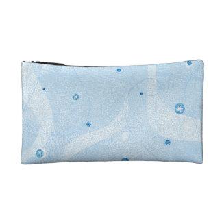 Swirling Blue Snowflake Sky Winter Holiday Snow Makeup Bag