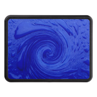 Swirling Blue Water Trailer Hitch Covers