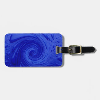 Swirling Blue Water Travel Bag Tag