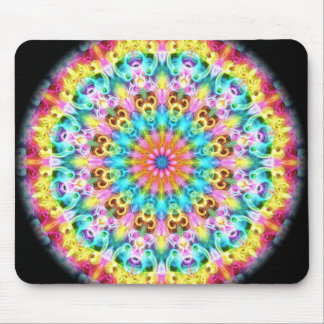 swirling bright rainbow mouse pad