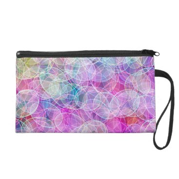 colourarts Swirling Candy Colour light show - pink Wristlet