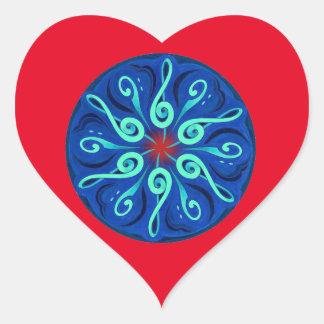 Swirling Clefs Heart Sticker