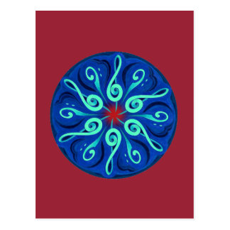 Swirling Clefs Postcard
