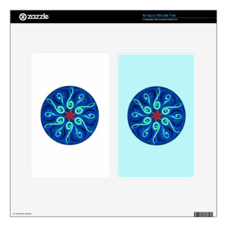 Swirling Clefs Skin For Kindle Fire