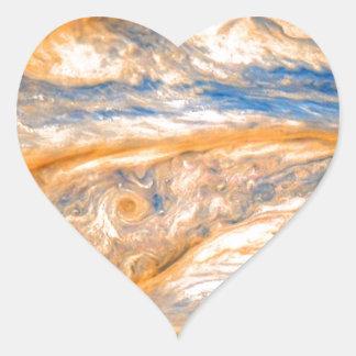Swirling Clouds of Jupiter Heart Sticker