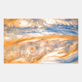 Swirling Clouds of Jupiter Rectangular Sticker