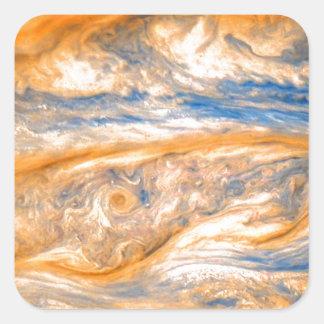 Swirling Clouds of Jupiter Square Sticker