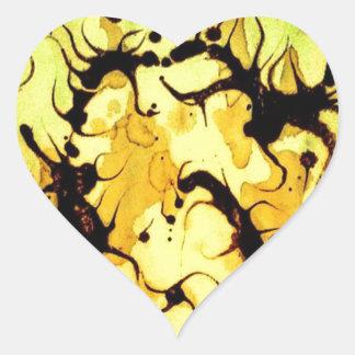 Swirling Coffee Art Design Heart Sticker