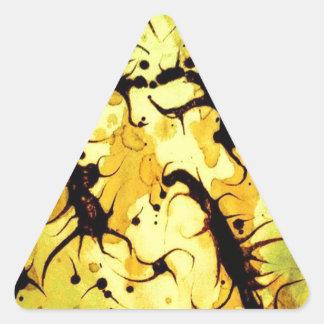 Swirling Coffee Art Design Triangle Sticker