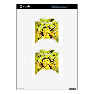 Swirling Coffee Art Design Xbox 360 Controller Skins