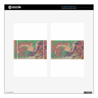Swirling Color Kindle Fire Decals