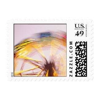 Swirling Color Postage Stamp