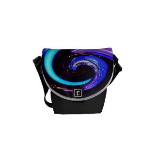 Swirling colors, whirling colors courier bag