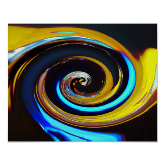 Swirling colors, whirling colors poster