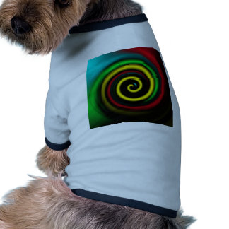 Swirling colours. doggie tee