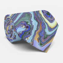 Swirling Currents Fractal Tie