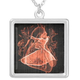 Swirling Dervish Silver Plated Necklace